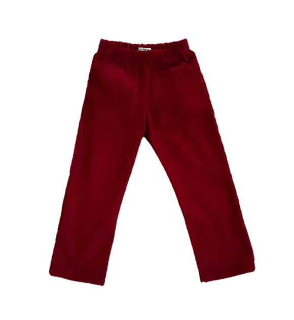 Bracken Trousers, Cranberry Corduroy