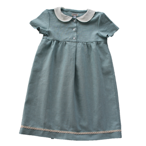 Meadow Dress, Duck Egg (6y & 7y)