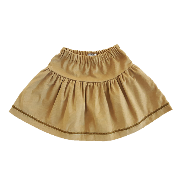 Windswept Skirt, Gold Corduroy