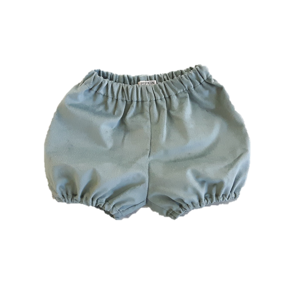 Woodland Bloomers, Ice Green Velvet (12-18m)