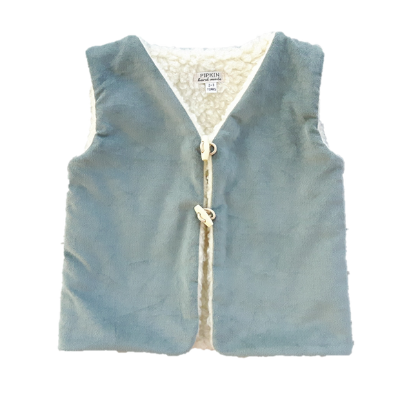 NEW Brook Gilet, Ice Green Velvet