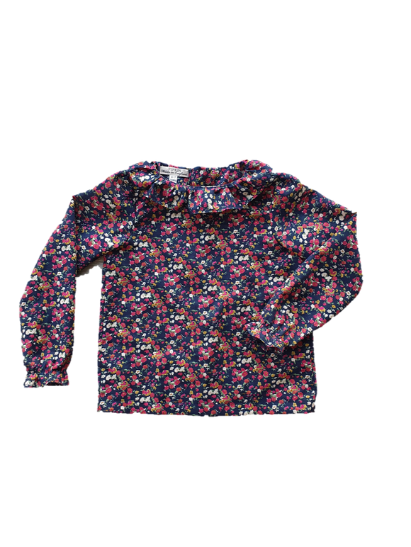 Budleigh Blouse, Navy Floral