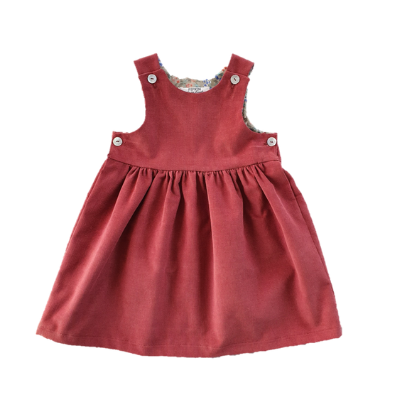 Starcross Pinafore, Sweet Cinnamon Corduroy