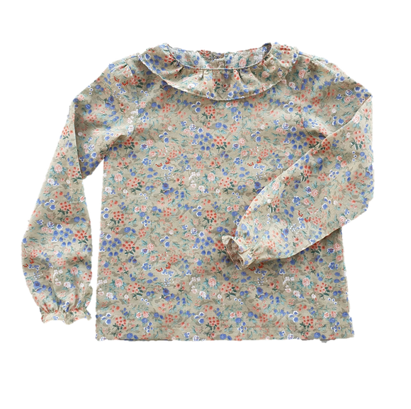 Budleigh Blouse, Sage Floral