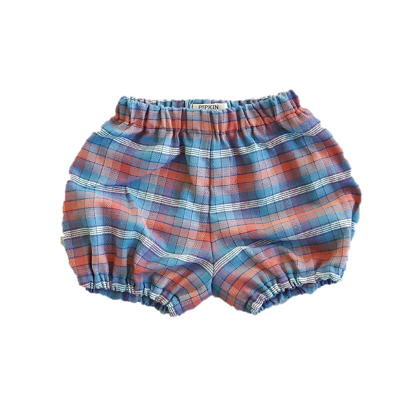 Woodland Bloomers, Teal Check (12-18m)