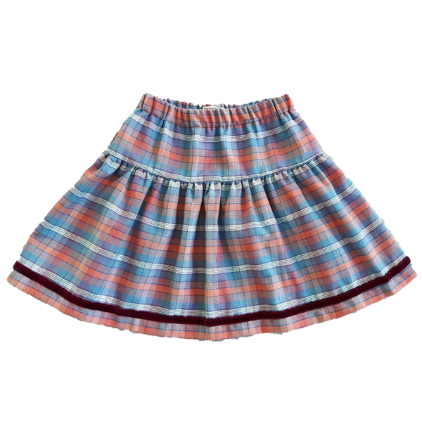 Windswept Skirt, Teal Check (8-9yrs)