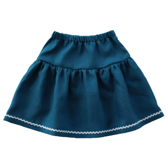 Windswept Skirt, Teal (6y)