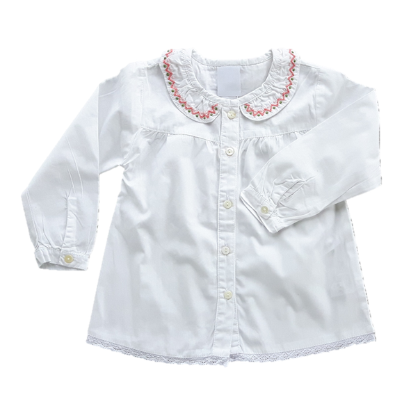 Blouse, Embroidered Trim