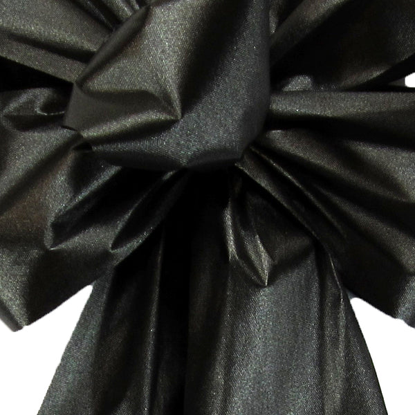 "Outdoor Poly Satin Ribbon Black (#40-2.5""Wx100Yards)"