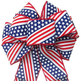 "Patriotic Wreath Bows - Wired Old Glory Patriotic Bows (2.5""ribbon~8""Wx16""L)"