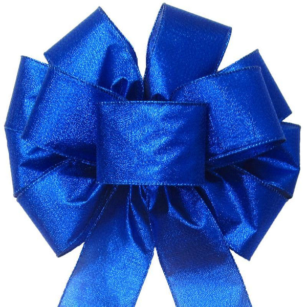 "Wired Radiant Royal Blue Bow (2.5""ribbon~10""Wx20""L) - Alpine Holiday Bows"