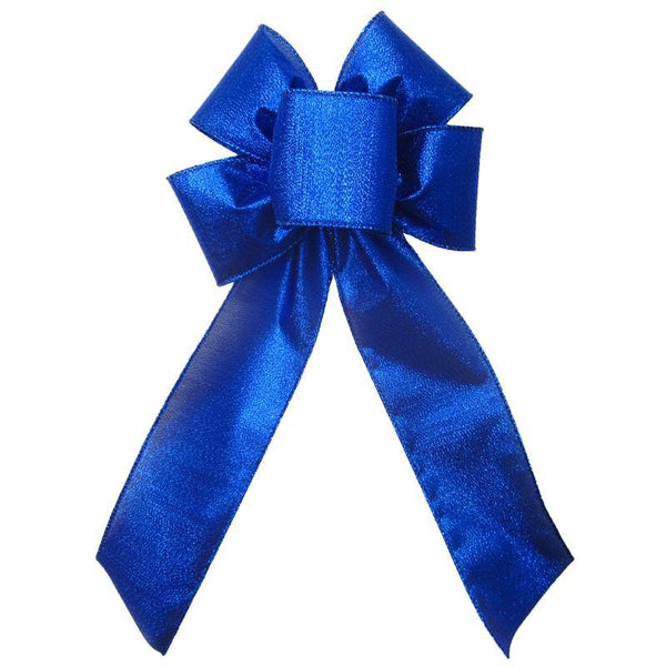 "Wired Radiant Royal Blue Bow (2.5""ribbon~6""Wx10""L) - Alpine Holiday Bows"