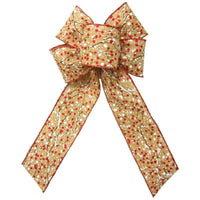 "Christmas Wreath Bows - Wired Berries & Snow Linen Burlap Bow (2.5""ribbon~6""Wx10""L)"