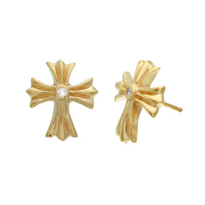 a&g-rock-yellow-gold-cross-earring-diamond-stud