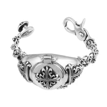 Load image into Gallery viewer, a&g-rock-celtic-cross-sterling-silver-watchband