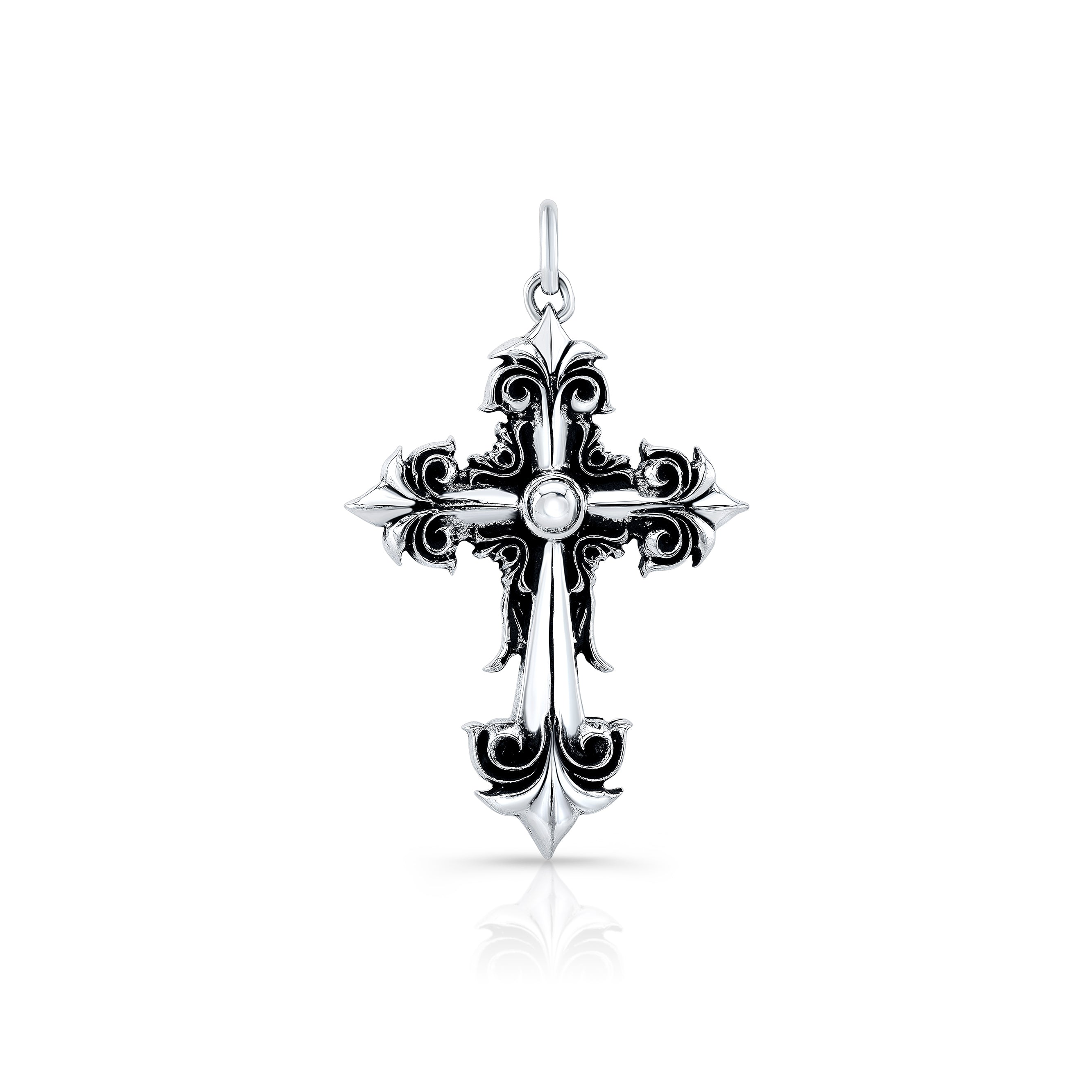 Arrow Cross Sterling Silver Pendant