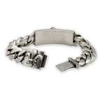 Load image into Gallery viewer, a&g-rock-dagger-ID-cuban-curb-link-bracelet-open