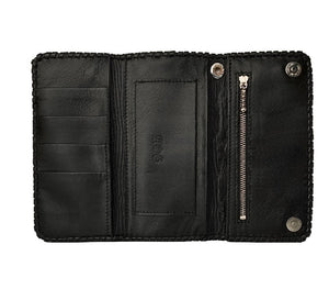Cross Design Long Leather Wallet