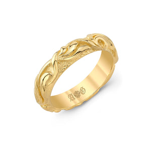 Celtic 14K Yellow Gold Band