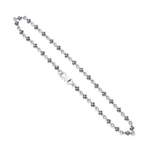 Small Cross Link Sterling Silver Chain Necklace