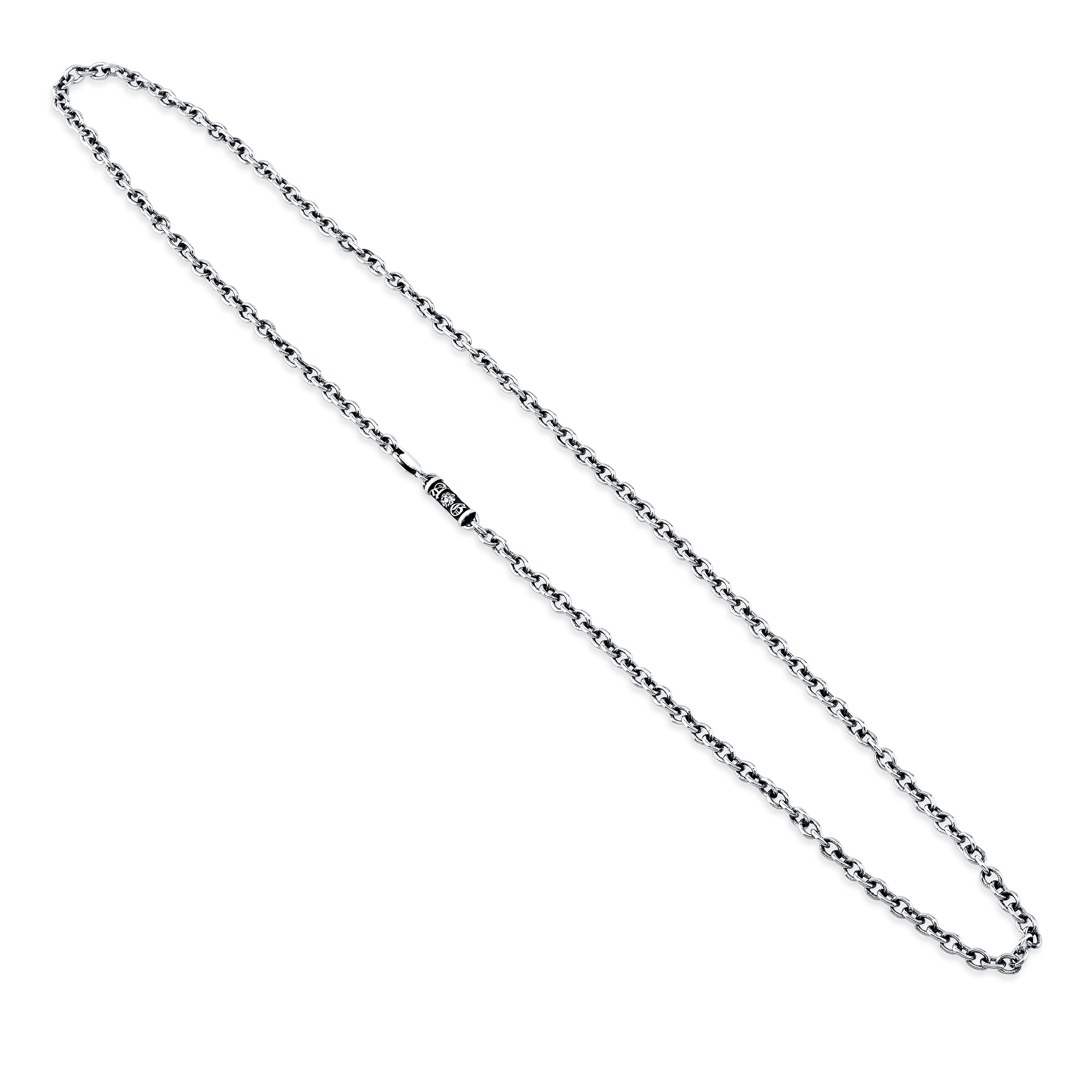 A&G Rock Logo Cable Chain Necklace