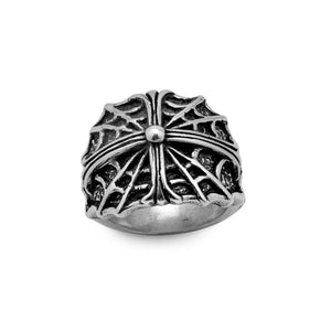 Spider's Cross Sterling Silver Ring