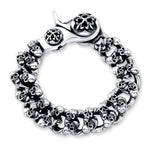 Load image into Gallery viewer, Mini Skulls Sterling Silver Link Bracelet