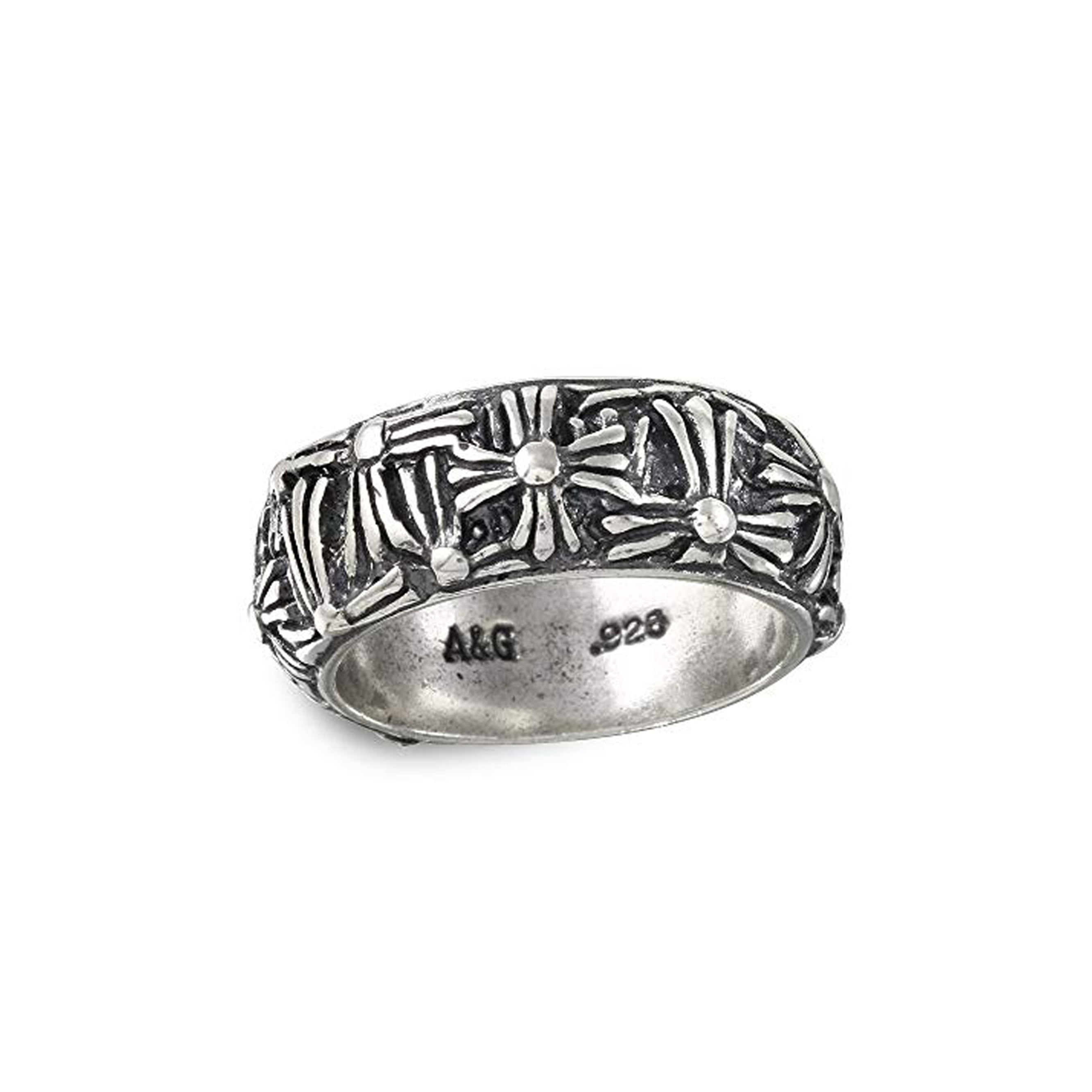 Multi Cross Sterling Silver Ring