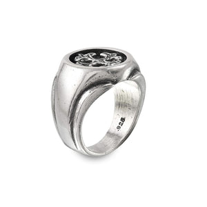 Cross Insert Sterling Silver Ring