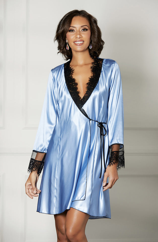 31512 Robe Blue/Black by Shirley of Hollywood
