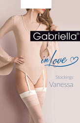 Calze Vanessa Stockings White by Gabriella