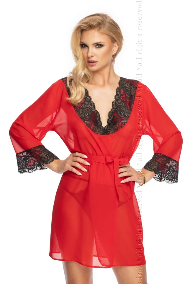 Oriana Dressing Gown Red by Irall Erotic