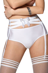 Amorre Suspender Belt White by Roza