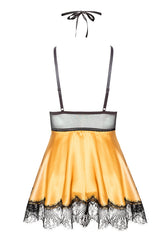 Eve Set Chemise Black/Gold by Beauty Night