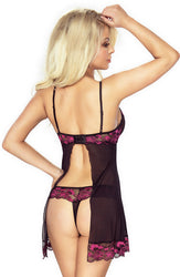 Regard Prive Set Babydoll Black/Pink by Provocative