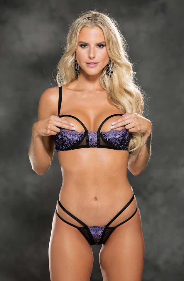 31426 Set Bra Black/Purple by Shirley of Hollywood