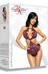 Jordana Bodysuit Purple by Beauty Night