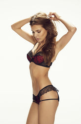 Devil Bra Black/Red by Confidante