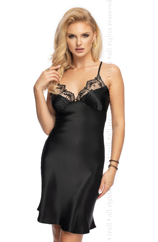 Mallory II Nightdress Black by Irall