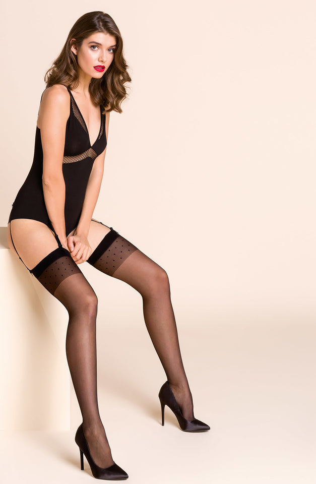 255 Stockings Calze Adora Black by Gabriella
