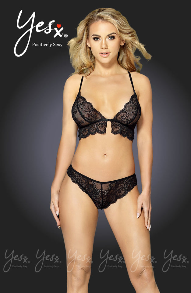 YX234 Bra Set Black by YesX