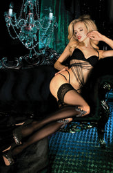 449 Hold Ups Black/Skin by Ballerina
