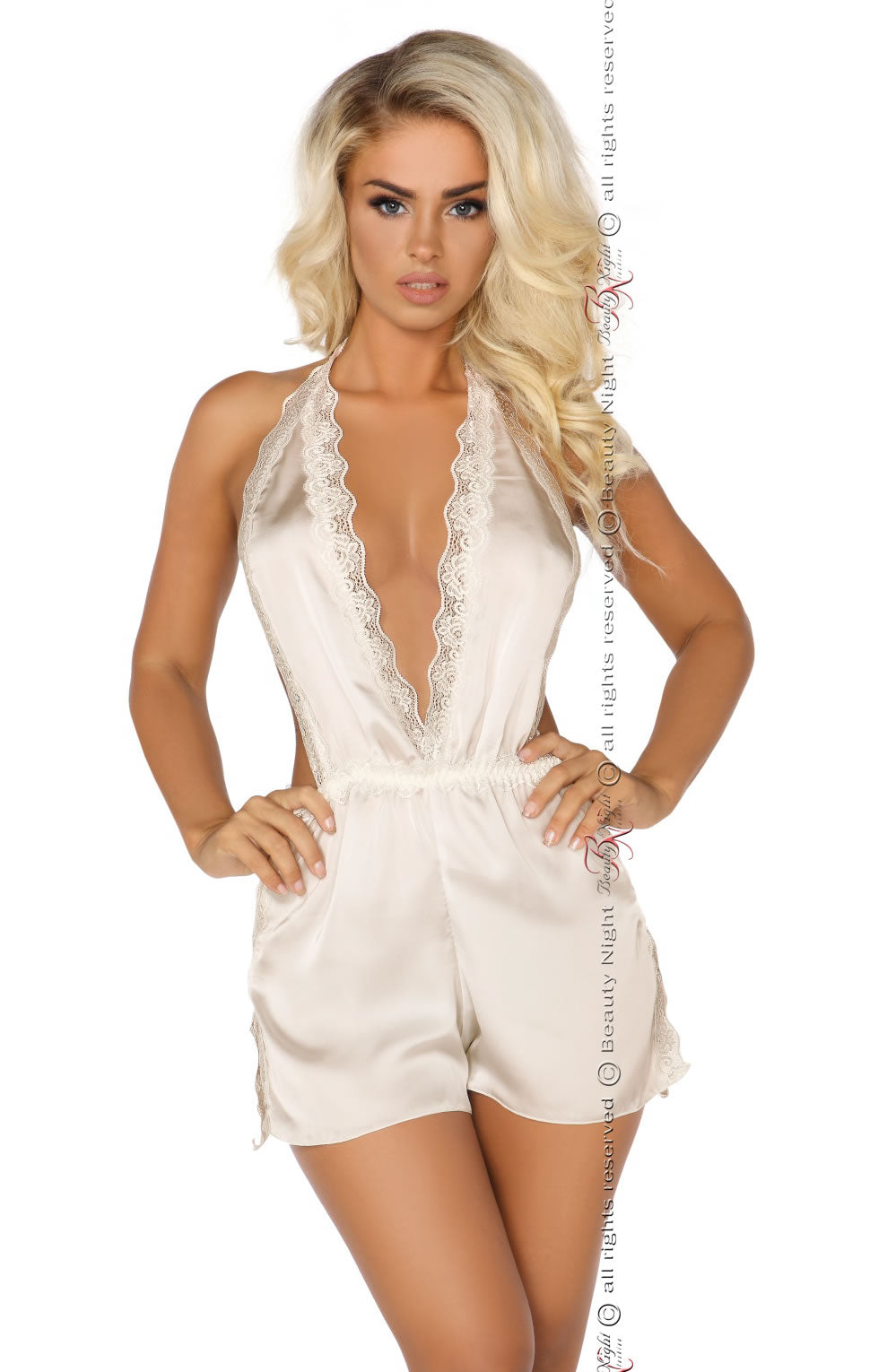 Shannon Romper Suit Vanilla White by Beauty Night