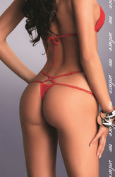 Palmira Thong Red by Me Seduce