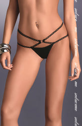 Palmira Thong Black by Me Seduce