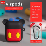 3D Cute Cartoon Shell Case For Airpods 2 Case Silicone Earphone Case For Apple Air pods Case Wireless Earphone Cover For Earpods