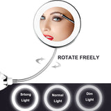 360 Degree Rotation 10X Magnifying Makeup Mirror My Flexible Mirror Folding Vanity Mirror with LED Light Makeup Tools Dropship
