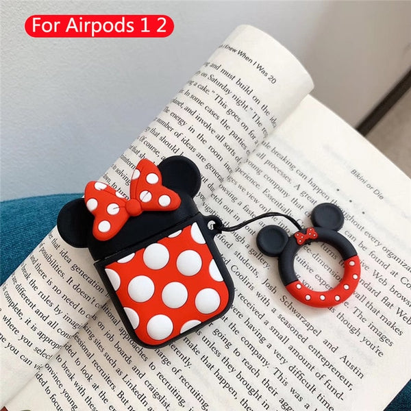 Cartoon Cute box Wireless Bluetooth Headset case for Apple Airpods 1 2 Earphone Silicone For Airpod Accessories Protective Cover