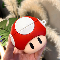 3D Silicone Cartoon Funny Coque Super Marios Bros Case for Air Pods 1 2 Earphone Cover for Apple Airpods Silicone Cases Funda