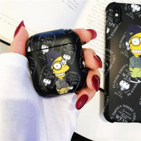 Trend graffiti Cartoon For Apple Airpods 2 Case Soft Silicone Headphone Case Box Cute Bluetooth Earphone Cover For Air pods 2